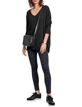 Hush Leopard Printed Leggings, Black by Hush