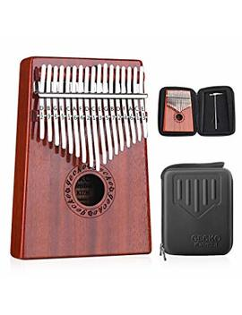 Gecko Kalimba 17 Keys Thumb Piano Builts In Eva High Performance Protective Box, Tuning Hammer And Study Instruction. by Gecko