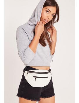 Faux Leather Bum Bag White by Missguided
