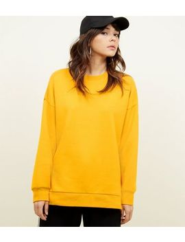 Bright Orange Oversized Sweatshirt by New Look