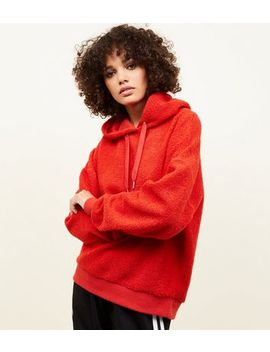 Red Borg Oversized Hoodie by New Look