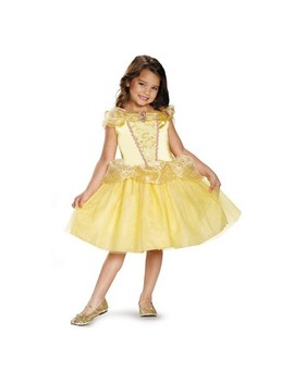 Toddler Girls' Disney Princess Belle Classic Halloween Costume   3 T 4 T by Disney Princess