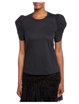 Kati Puff Sleeve Crewneck Tee by A.L.C.