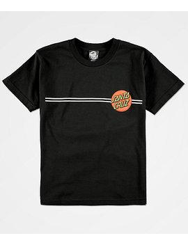 Santa Cruz Boys Classic Dot Black T Shirt by Santa Cruz Skate
