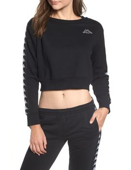 Logo Crop Sweatshirt by Kappa