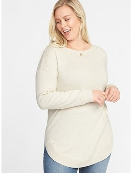 Classic Plus Size Curved Hem Sweater by Old Navy