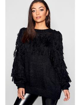 Tall Tassel Knit Jumper by Boohoo