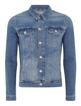 Light Wash Stretch Skinny Denim Jacket by Topman