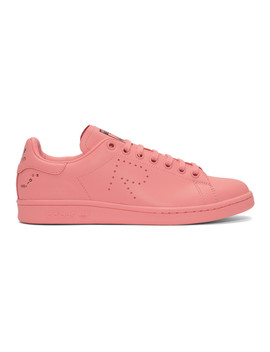 Pink Adidas Originals Edition Stan Smith Sneakers by Raf Simons