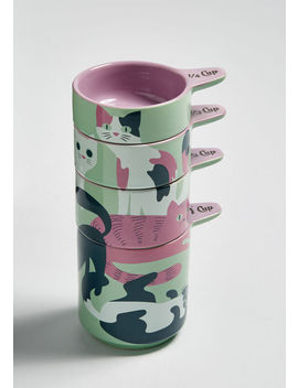 Home Quirked Meal Cat Measuring Cups by Modcloth