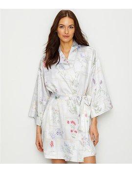 Botany Print Satin Kimono Robe by Lauren Ralph Lauren