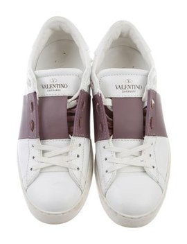 Valentino Low Top Leather Sneakers by Valentino