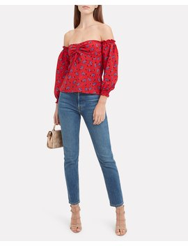 Nicola Off Shoulder Top by Intermix