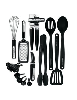Kitchen Aid 17 Piece Starter Tool And Gadget Utensil Set   Kc448 Bxoba & Reviews by Kitchen Aid