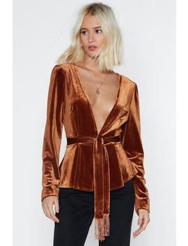 Touch Velvet Jacket by Nasty Gal
