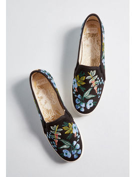 Storied Embroidery Slip On Sneaker by Keds