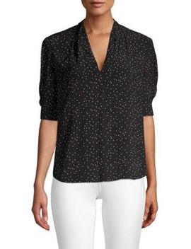 Ance V Neck Printed Blouse by Joie