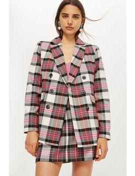 Pink Tartan Jacket by Topshop