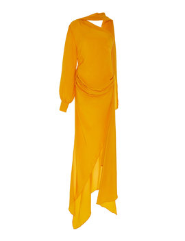 Curtain Draped Silk Dress by Pyer Moss