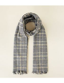 Black Prince Of Wales Check Blanket Scarf by New Look