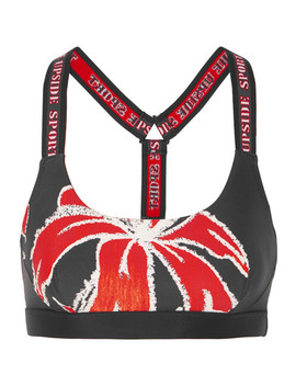 Alex Floral Print Stretch Sports Bra by The Upside