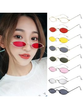 Fashion Sexy Unisex Sunglasses 2018 Retro Small Oval Sunglasses Metal Frame Shades Eyewear Lunette De Soleil Gafas De Sol Mujer by Feitong