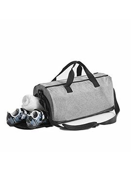 David.Ann Sports Gym Bag With Shoes Compartment Travel Duffel Bag For Men And Women by David.Ann