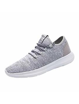 Keezmz Men's Running Shoes Fashion Breathable Sneakers Mesh Soft Sole Casual Athletic Lightweight Gray 47 by Keezmz