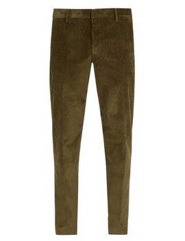 Cotton Corduroy Trousers by Prada