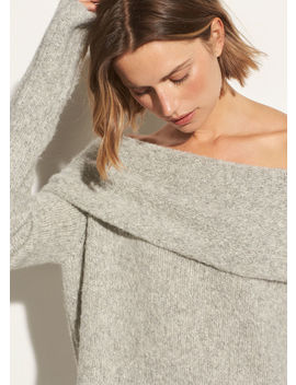 Off Shoulder Pullover by Vince
