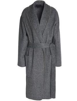 Belted Embellished Felt Coat by Alexander Wang