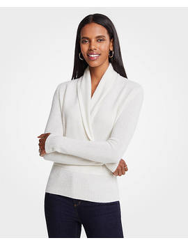 Cashmere Wrap Sweater by Ann Taylor