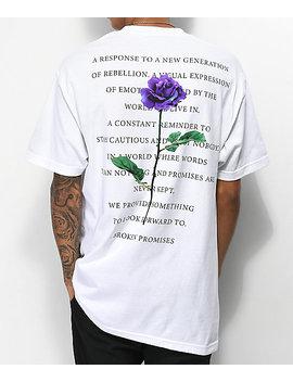 Broken Promises Blossom White T Shirt by Broken Promises