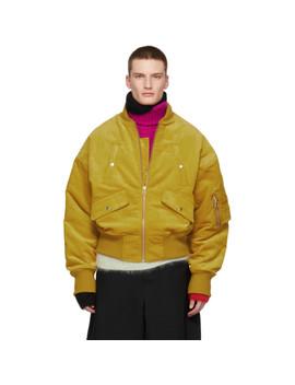 Yellow Corduroy Bomber Jacket by Landlord