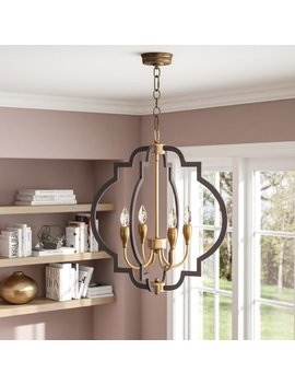 Everly Quinn Astin 4 Light Geometric Chandelier & Reviews by Everly Quinn