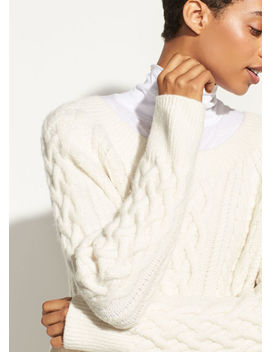 Cable Knit Tunic by Vince
