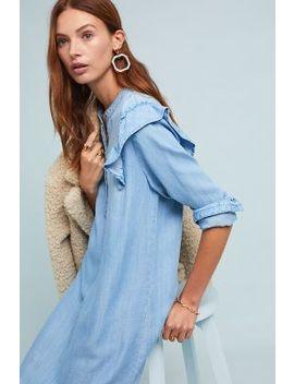 Cloth & Stone Ruffled Plaid Shirtdress by Cloth & Stone