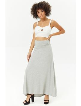 Foldover Waistline Maxi Skirt by Forever 21
