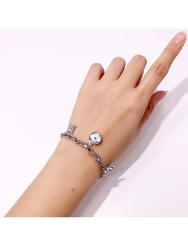 High Quality Exquisite Brand Stainless Steel White Shellfish Flower Lover Bracelet For Women Double Chain Fashion Jewelry by Lasman.Hl