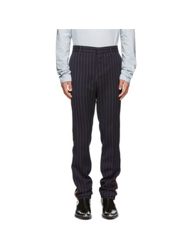 Navy Uniform Stripe Trousers by Calvin Klein 205 W39 Nyc