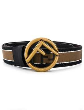 Fendistriped Logo Buckle Belthome Men Fendi Accessories Belts by Fendi