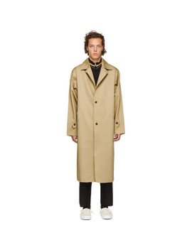 Beige Mackintosh Trench Coat by Camiel Fortgens