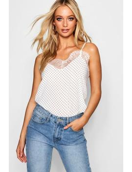 Spot Lace Cami by Boohoo