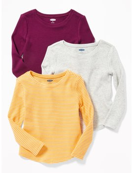 3 Pack Long &Amp; Lean Thermal Tees For Toddler Girls by Old Navy