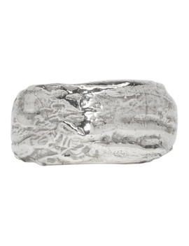 Silver Wide Textured Band Ring by Pearls Before Swine