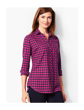 Classic Cotton Gingham Shirt by Talbots