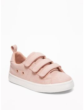 Sueded Triple Strap Sneakers For Toddler Girls by Old Navy