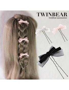 Twin Bear     Bow Hair Pin by Twin Bear