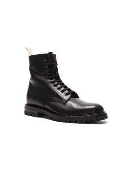 Leather Winter Combat Boots by Common Projects
