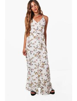Ruby Strappy Tie Waist Woven Maxi Dress by Boohoo